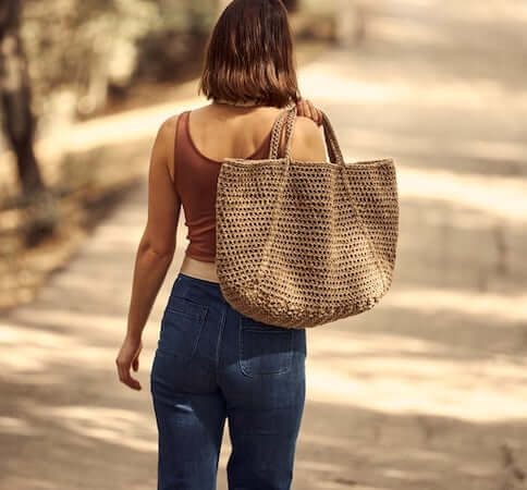 Crochet Oversized Shoulder Bag Pattern by Two Of Wands Shop