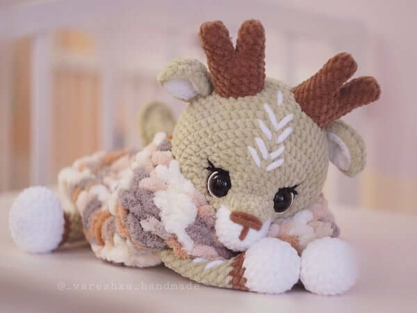 Crochet Reindeer Lovey Pattern by Favorite Plush Toys