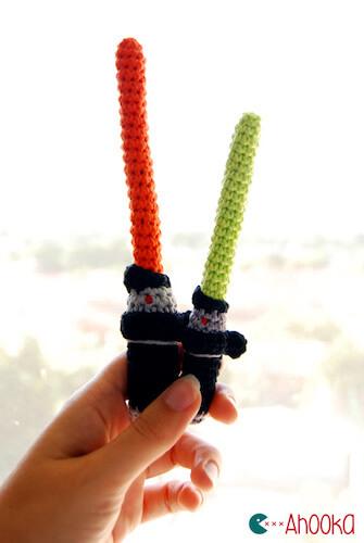 Crochet Star Wars Lightsaber Pattern by Ahookamigurumi