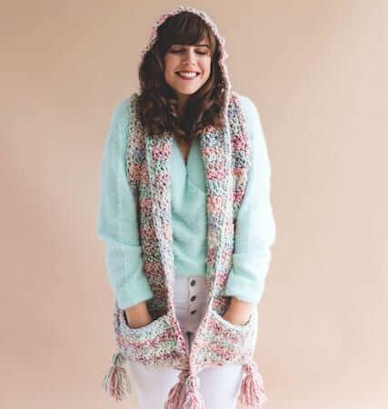 Crochet Storybook Hooded Scarf Pattern by Sewrella