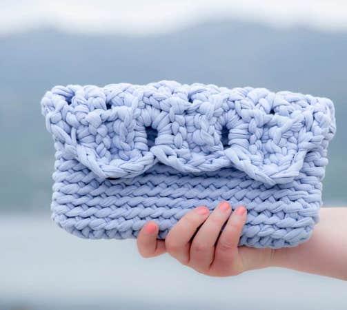 Crochet Summer Clutch Pattern by Joy Of Motion Crochet