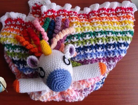 Crochet Unicorn Lovey Pattern by Meladora's Creations