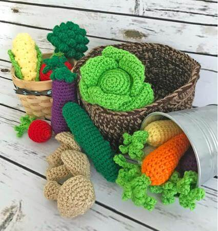 Crochet Vegetables Toy Pattern by Green Fox Farms Designs
