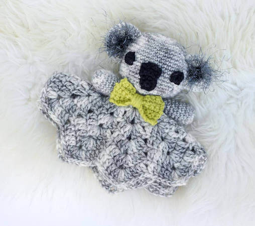 Cuddly Koala Free Crochet Lovey Pattern by Make And Do Crew