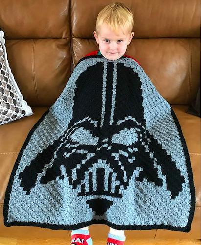 Darth Vader Crochet Throw Pattern by Vera Rose Embroidery