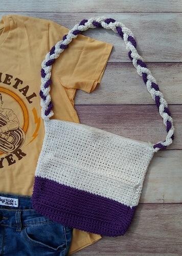 Dip-Dyed Shoulder Bag Free Crochet Pattern by Eye Love Knots