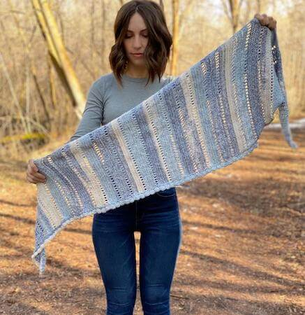Dotted Wrap Crochet Pattern by Evelyn And Peter