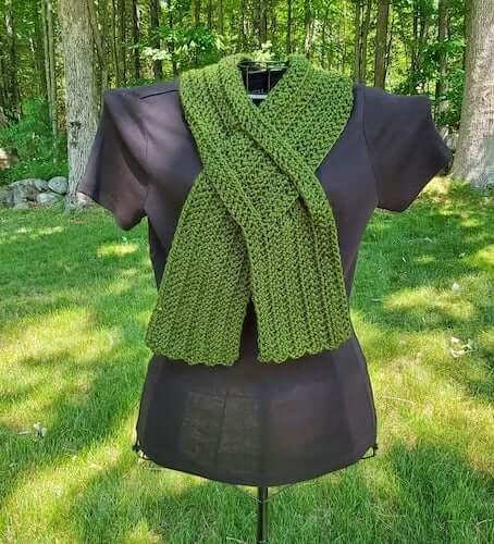 Double Keyhole Scarf Crochet Pattern SLF Creations