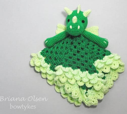 Dragon Lovey Crochet Pattern by Bowtykes