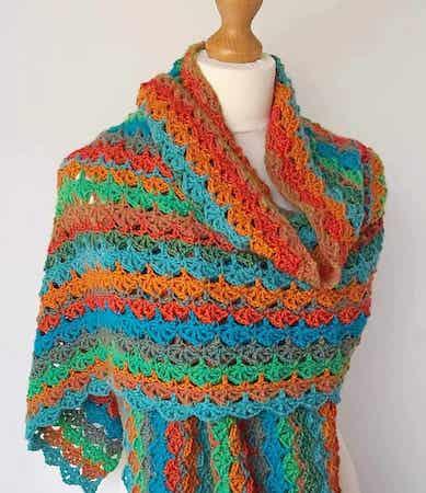 Easy Crochet Wrap Free Pattern by Annie Design Crochet