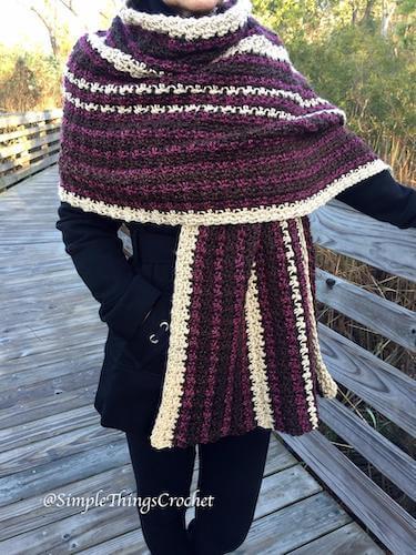 Easy Women's Crochet Wrap Pattern by Simple Things By Tia