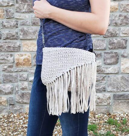 Everyday Boho Bag Free Crochet Pattern by E'Claire Makery