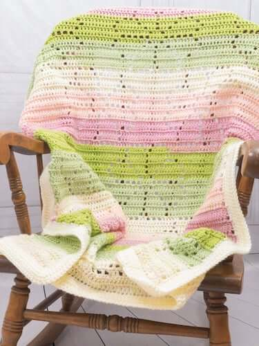 Baby Floral Crochet Blanket Pattern by Owl B Hooked