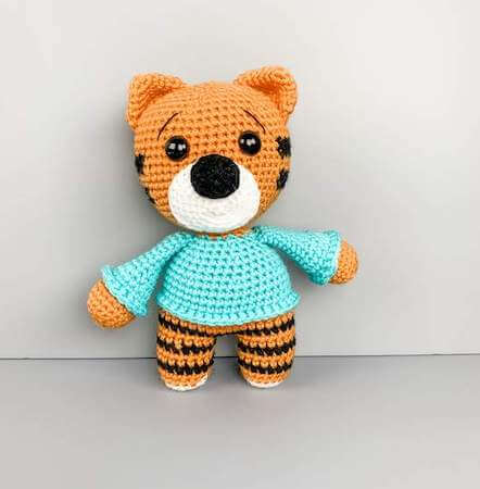Free Crochet Tiger Amigurumi Pattern by The Friendly Red Fox