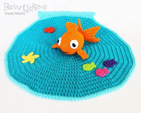 Goldfish Lovey Crochet Pattern by Bowtykes