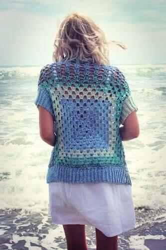 Granny Winner Cardigan Crochet Pattern by Holland Designs