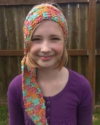 Head Scarf Crochet Pattern by Kickin Crochet