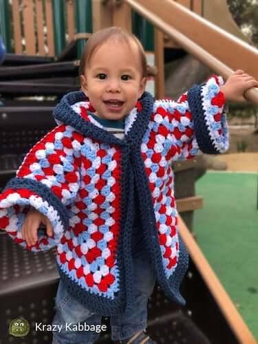 Hexagon Granny Square Cardigan Crochet Pattern by Krazy Kabbage