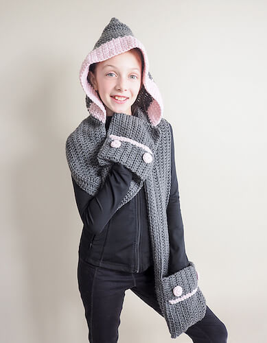 Hooded Scarf Crochet Pattern by Dabbles And Babbles