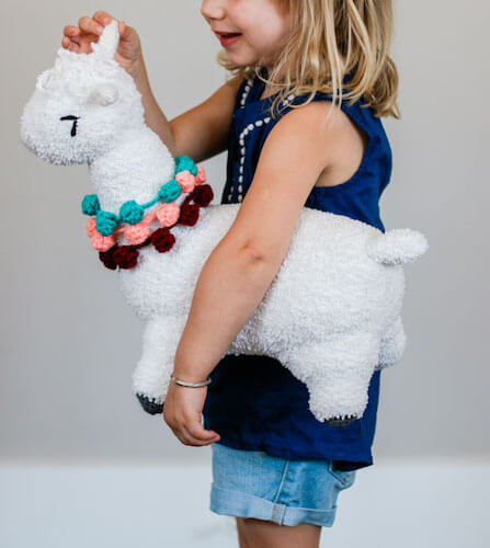 Huggable Crochet Alpaca Toy Pattern by Make And Do Crew