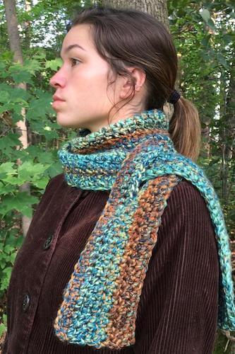 Keyhole Scarf Crochet Pattern by A Frayed Knot Boutique