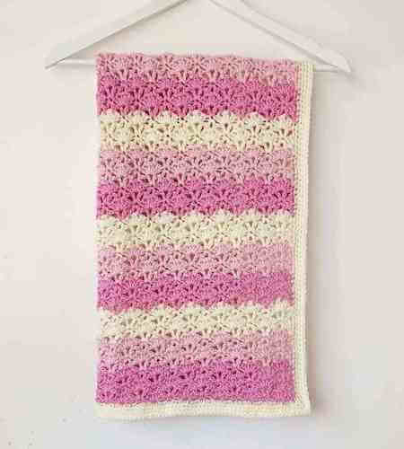 Lacy Shells Crochet Baby Blanket Pattern by Annie Design Crochet