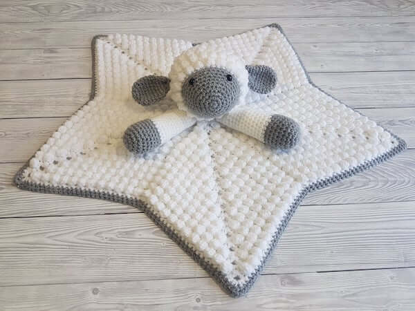 Liam, The Lamb Baby Lovey Crochet Pattern by Crafting Happiness UK