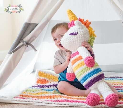 Lola, The Crochet Plushy Unicorn Pattern by Sewrella