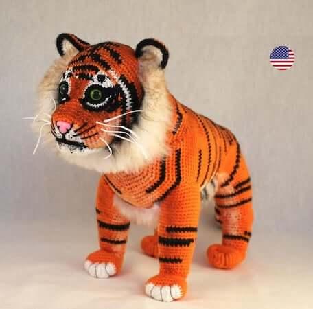 Machli, The Tiger Amigurumi Pattern by Crochet With Halline