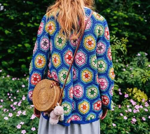 Matisse Hexagon Crochet Cardigan Pattern by The Missing Yarn