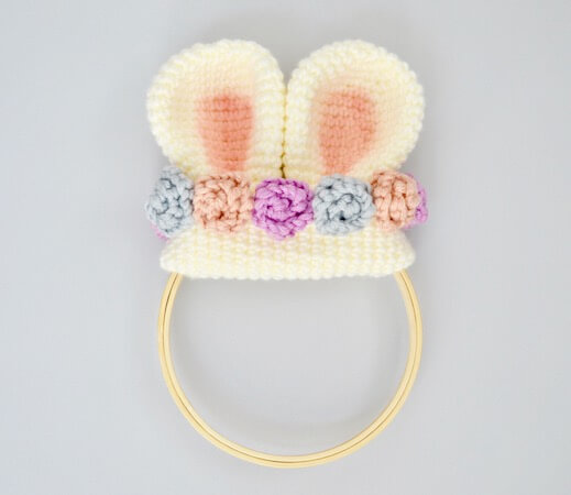 10. Mini Bunny Ear Wreath Crochet Pattern by Yarn Society