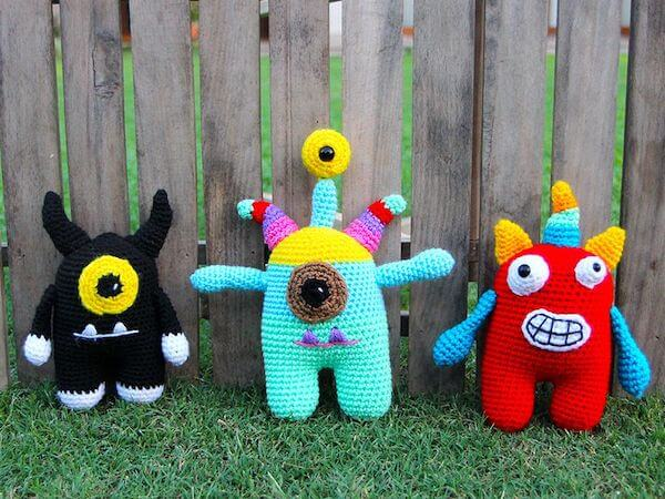 Mix And Match Crochet Monster Pattern by Chai Coffee Crochet