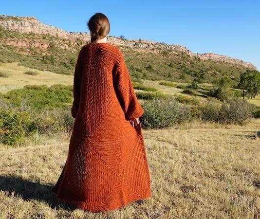 Mountain Harvest Cardigan Crochet Pattern by Colorado Shire