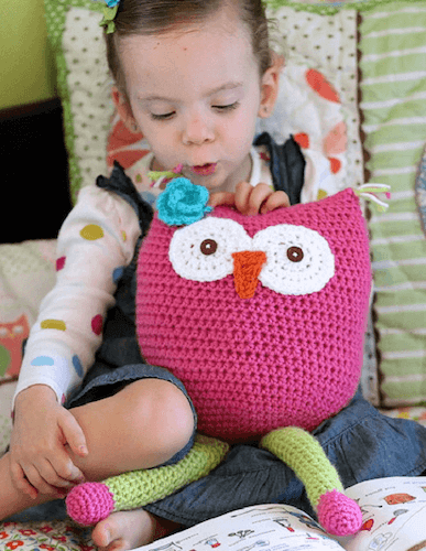 Owl Toy Crochet Pattern by Daisy Cottage Designs