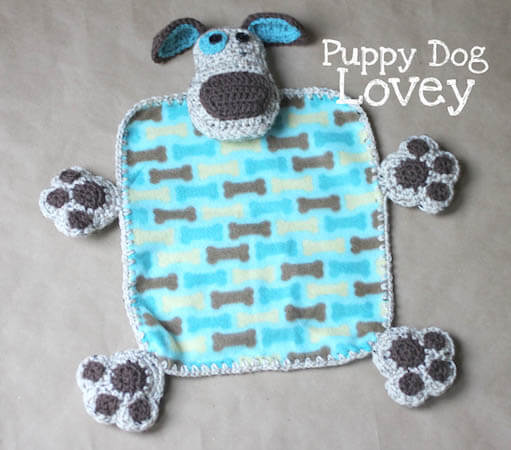 Puppy Dog Lovey Crochet Pattern by Repeat Crafter Me