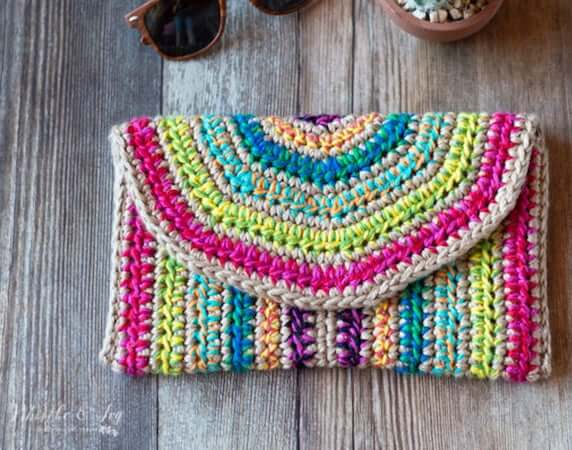 Rica Crochet Clutch Pattern by Whistle And Ivy