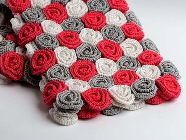 Rose Field Baby Blanket Crochet Pattern by Sweet Crocheterie
