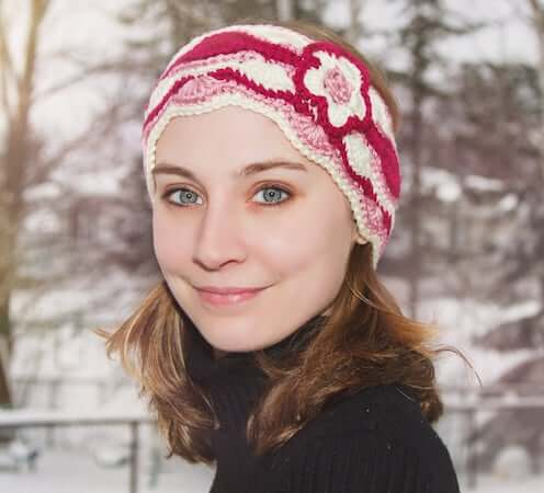 Serene Reflections Head Wrap Crochet Pattern by Crystalized Design