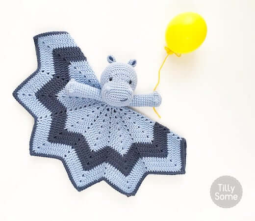 Smiley Hippo Lovey Crochet Pattern by Tilly Some