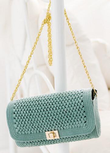 Square Flap Shoulder Bag Crochet Pattern by Pierrot