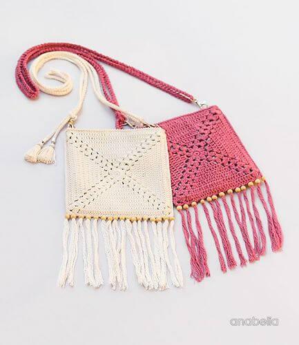 Summer Crochet Shoulder Bag Pattern by Anabelia