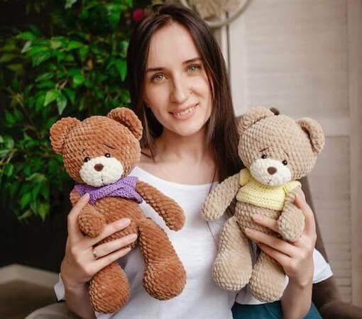 Teddy Bear Crochet Toy Pattern by Wonder Studio By Yulia