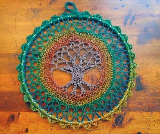 Tree Of Life Mandala Crochet Pattern by Morale Fiber