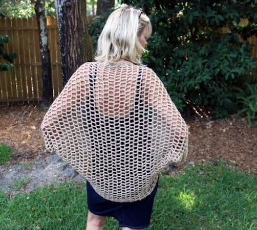 Unclouded Crochet Cocoon Cardigan Pattern by E'Claire Makery