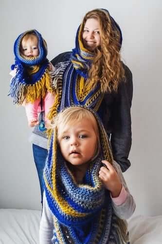 Wild Oleander Hooded Scarf Crochet Pattern by Wickedly Handmade