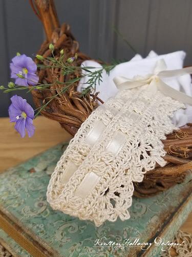Wrapped In Lace Wedding Choker Crochet Pattern by Kirsten Holloway Designs