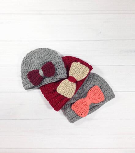 Baby Girl Turban Hat by Handmadepatternshop