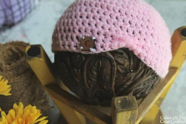 Baby Turban Crochet Pattern by CreamCropCrochet