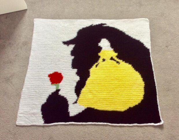 Beauty and the Beast Crochet Blanket Pattern by Deecrochetcreation