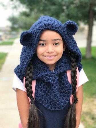 Cozy Bear Cowl Crochet Pattern by PeachasNBeans